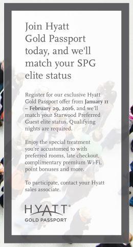 Hyatt Status match