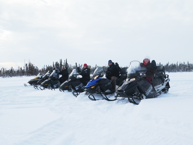 Snowmobile Tour with North Star Adventure in Yellowknife Canada