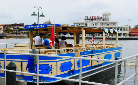 what to do in Disney Springs - free boat ride