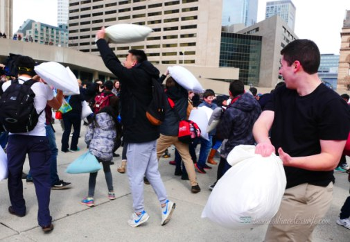 Pillow Fight Day Toronto